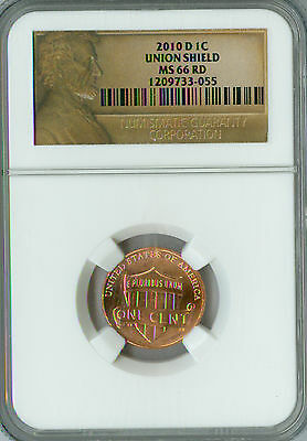 2010-D Cent Lincoln Ngc Ms66 Red Business Strike *