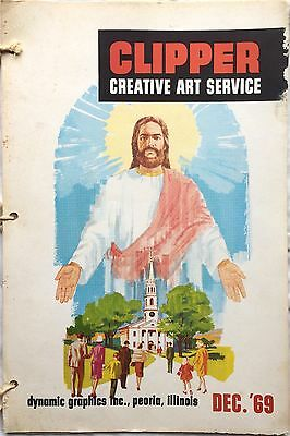 Vtg Clipper Creative Iconic American Commercial Art Large Format Book Dec 1969