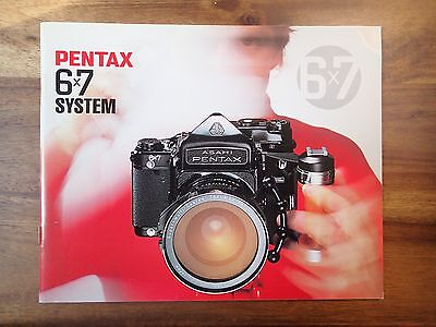 Asahi Pentax 6x7 System Camera Original Manual Booklet 35mm Camera Super SLR