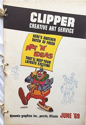 Vtg Clipper Creative Iconic American Commercial Art Large Format Book June 1969