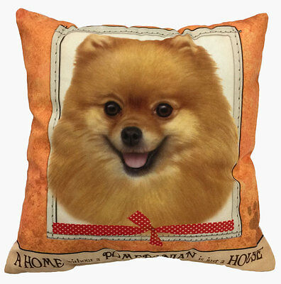 Pomeranian Pillow 16×16 Polyester