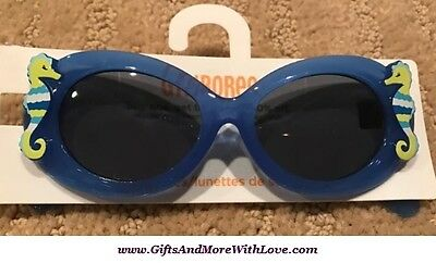 Gymboree NWT Blue SEAHORSE UVA UVB PROTECTION DRESS SUNGLASSES 0 1 2 Years