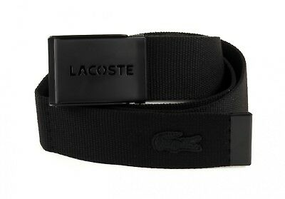 LACOSTE Belt Gift Box 2 Woven Strap W85 Black