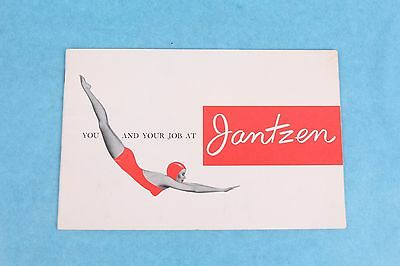VINTAGE 1960's  JANTZEN SWIMSUIT CLOTHING CO. DIVING GIRL EMPLOYEE HANDBOOK