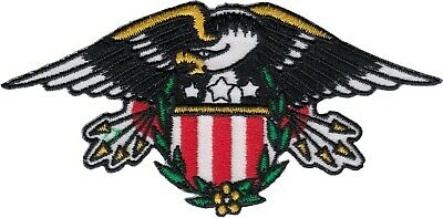 Patch - Bald Eagle American US Shield Biker Bird Embroidered Sew Iron On #19608