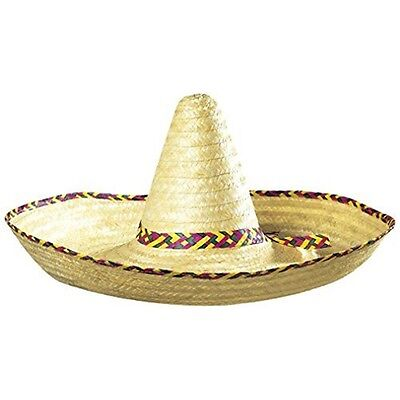 Giant Sombrero Decorated 65cm Mexican Hats Caps & Headwear For Fancy Dress - Hat