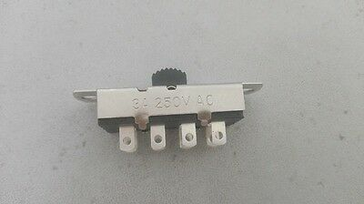 1pc 6-Way 6P3T 125V-250V 3A Slide ON/ON/ON Switch,S303