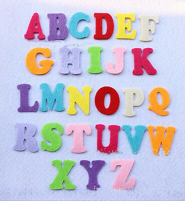 26pcs letters(A-Z)Mixed Colors Felt Cardmaking Appliques decoration DIY 40mm