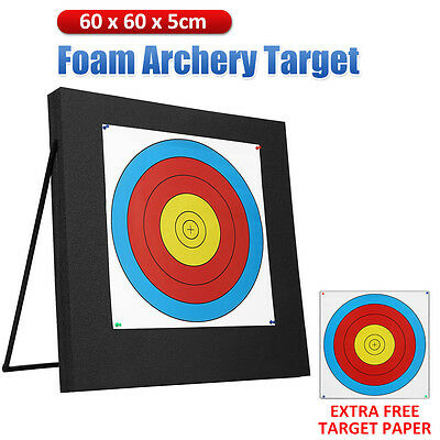 High Density Self Healing XPE Foam THICK Archery Target Recurve Portable 60x60cm