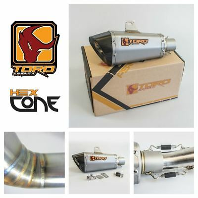 Toro T2 Hex Cone Stainless / Carbon Exhaust for Kawasaki Z 1000 10-17