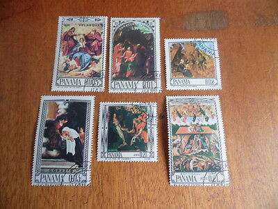 Panama ~ Set of 6 ~ Art/Paintings 1964 ~ (Mags)