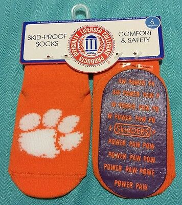 Clemson Tigers Baby Skid-proof Socks Size 6 Months New
