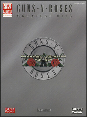 Guns N Roses Greatest Hits Guitar Vocal TAB Music Book