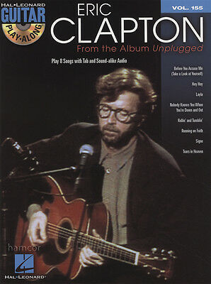 Eric Clapton from the Album Unplugged Guitar Play-Along TAB Music Book/CD