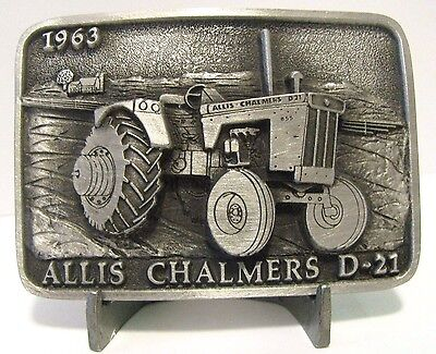 Allis Chalmers D-21 1963 Tractor Belt Buckle Limited Edition 14 of 250 ac pewter