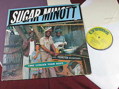 Sugar Minott  TIME LONGER THAN ROPE  LP Greensleeves GREL 88 UK 1985