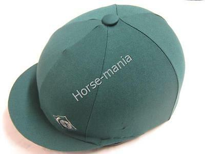 """Charles Owen Emerald Riding Hat Silk Cover For Jockey Skull Caps Up To 2 1/2"""""""