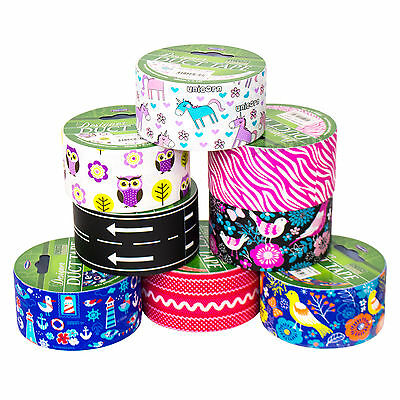 Single Roll of Duct Tape 48mm x 9.1m Pattern Colour Duck Gaffa Gaffer Craft Tape