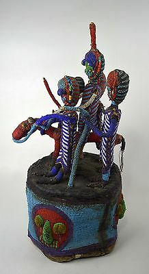 Masterpiece Yoruba Beaded Crown with Horse & Rider & Attendants