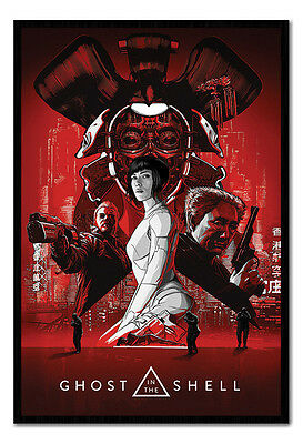 Framed Ghost In The Shell Red Poster New