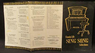 Canada Life Sing Song Selections 1950s/1960s Sing A Long Booklet