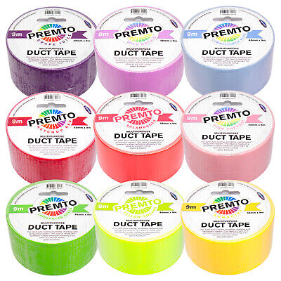 Single Roll of Duct Tape 48mm x 9.1m Bright Colour Duck Gaffa Gaffer Craft Tape