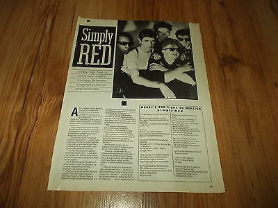 SIMPLY RED-1985 magazine article