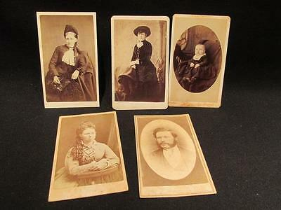 Strathroy Ontario Photographers 5 Antique CDV Photos Ferguson, Ray, Irwin