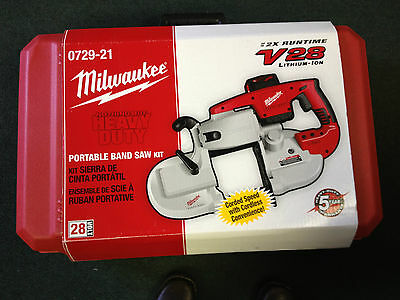 New Milwaukee V28 Portable Cordless Band Saw - 0729-21