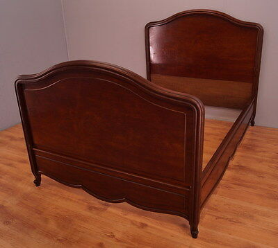 1726 !! Amazing Mahogany Solid Double Bed In French Style !!