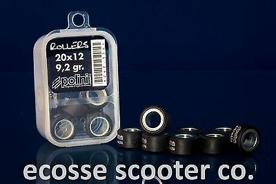 Yamaha Maxster 125 Scooter Polini Variator Rollers 20 X 12 @ 9.2 Grams Set Of 8
