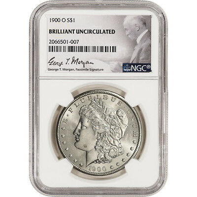 1900-O US Morgan Silver Dollar $1 - NGC Brilliant Uncirculated