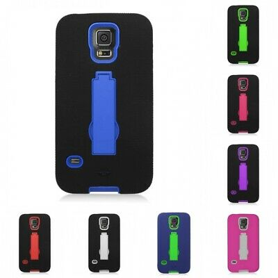 For Samsung Galaxy S5 Case DEFENDER Armor Hard Soft Dual Layer Cover With Stand