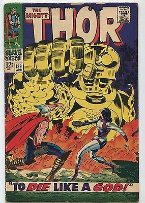 The Mighty Thor #139 VG+ To Die Like a God  Marvel  SA