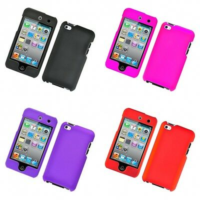 For iPod Touch 4th Generation Hard Snap-On Rubberized Phone Skin Case Cover