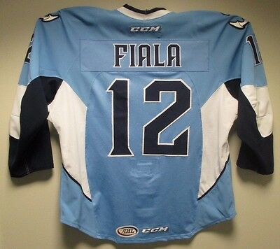 quality design 56d46 0227b MILWAUKEE ADMIRALS THIRD Jersey Worn by #12 Kevin Fiala