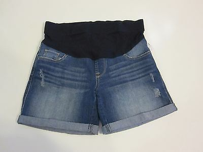 Oh Baby by Motherhood Maternity Shorts Size S Blue Denim Jean