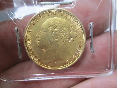 1884 Victorian British Soverign Gold Coin In Nice Condition