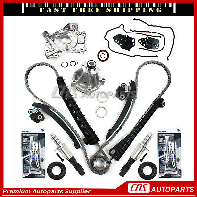 04 5.4LFord F150 F250 Lincoln 3V Timing Chain Kit Cam Phaser Timing cover Seal