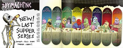 """Toy Machine Skateboard Deck Provost Last Supper 8.25"""" 1of8 FREE POST FREE GRIP"""
