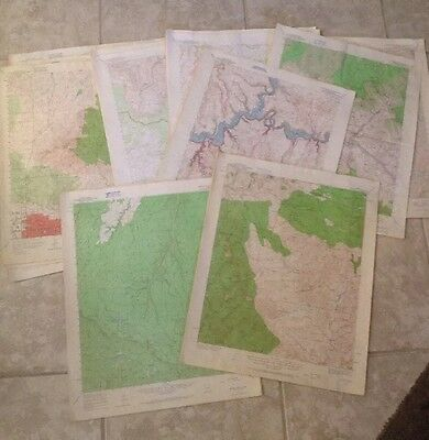 39 USGS Topographic Arizona Maps,Aprx.14 X 10 Miles Each,1949 & 1953 &1962,