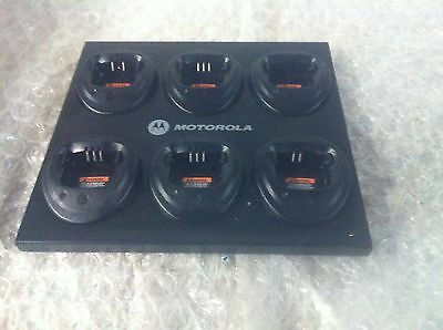 Genuine Motorola Gang 6 Bay Charger WPLN4171AR MUC NO POWER SUPPLY USED