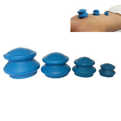 Chinese Rubber Cupping - Cellulite Therapy, Massage, Acupuncture - Set of 4  New