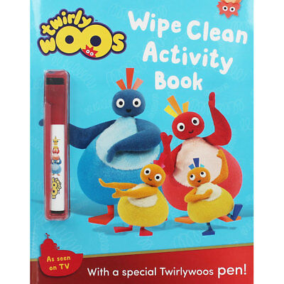 Twirlywoos Wipe Clean Activity Book (Paperback), Children's Books, Brand New