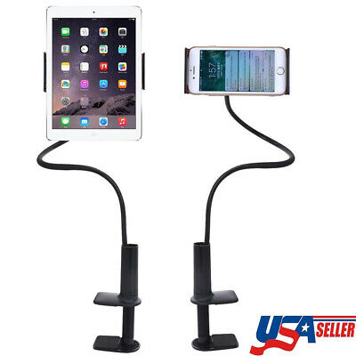 Gooseneck 360° Lazy Bed Desk Stand Holder Mount For iPad iPhone Sumsung Phones
