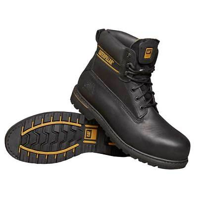 Safety Shoes Work Boots Black Holton Size 8 Water Resistant - CAT Holtonsize8