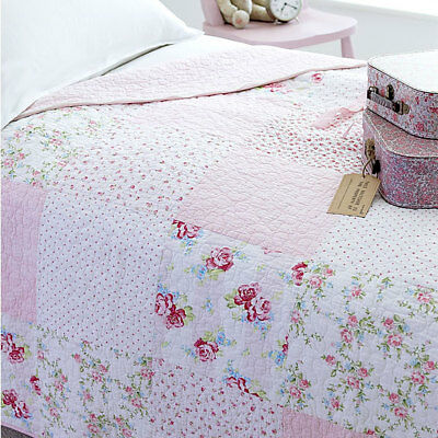 Sashi Bed Linen Lucy Patchwork Children's Quilted Sleeping Bag, Pink