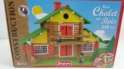 Jeujura Wooden Construction Chalet Toy In Suitcase (2 Teile fehlen)
