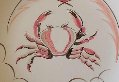 Superb Poole Pottery Plate With Crab Design - 1950's