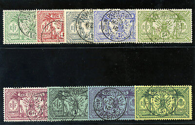 """New Hebrides 1911 KGV """"Weapons & Idols"""" set complete MLH. SG 18-28. Sc 17-25."""
